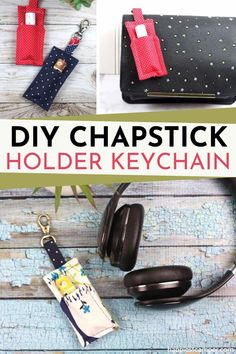 Always struggling to keep your chapstick by losing them everywhere you go? Worry no more with this DIY Chapstick holder keychain! It's the perfectly chic solution to your problem. This cute little sewing project is so easy to make, you can crank out several of these for the whole family to have. Easy sewing projects. Easy Sew. DIY Chapstick Holder Keychain