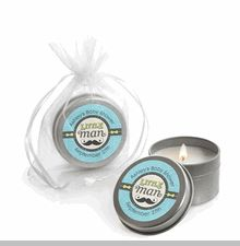 Dashing Little Man - Candle Tin Personalized Baby Shower Favors  #Mustache