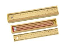ECO Wooden Pencil Case with Ruler