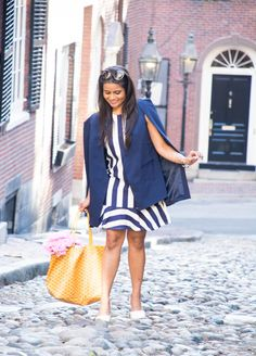 Cape Blazer, striped dress, asos, lavish alice, goyard, peonies, beacon hill, boston, cobbled stone, acorn street path, boston photoshoot, photoshoot ideas, ootd