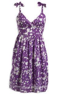 Purple flower dress from American Eagle