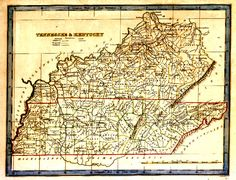 early bledsoe county tn maps | ... the map and you will findthe text from the Atlas describing Tennessee