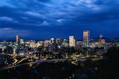 Downtown Portland at night   #portland #oregon #downtown