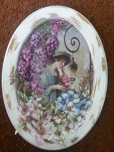 vintage Decoupage On Canvas, Decoupage Plates, Decoupage Wood, Decoupage Ideas, Decor Crafts, Diy Crafts, 3d Paper, Shabby Chic Style, Rice Paper