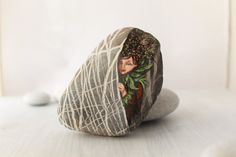 Painted stone. Ready to ship. Little elf sprite of by sabiesabi