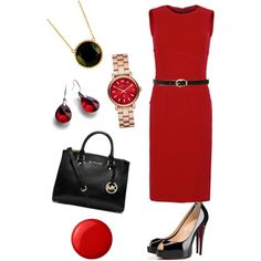 A fashion look from October 2014 featuring Dolce&Gabbana dresses, Christian Louboutin pumps and MICHAEL Michael Kors handbags. Browse and shop related looks.