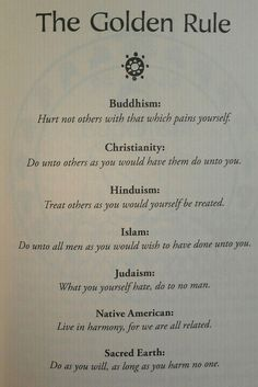 The Religion Golden Rule -