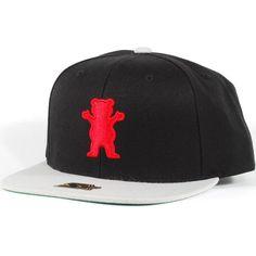 a87bbadfcfc Grizzly Bear Logo Starter Snapback Hat (Black Grey)  39.95