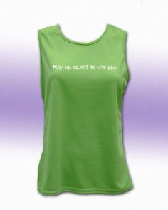 May The Course Be With You Women's Crew Neck Tech. Tank