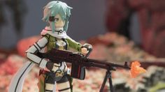 To be a successful sniper you have to be cool and calm, though, Sinon is anything but in these photos. The new Sinon figma is both fun to play around with and gorgeous, so as you might notice I also … Calm and Cool Sinon Read 3d Photo, Figure Photography, Anime Figures, Sword Art Online, Calm, Cool Stuff, Fun, Photos, Pictures