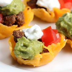 Taco Cheese Cups by Tasty