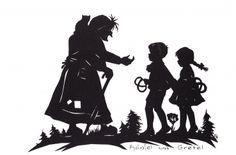 Postkarte 'Hänsel und Gretel'
