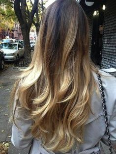 Perfect ombre / balayage and cut Ombré Hair, Hair Day, Her Hair, Braid Hair, Wavy Hair, Blonde Balayage Highlights, Blonde Ombre, Curly Blonde, Brown Hair Colors