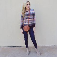 JCrew sweater Chloe bag