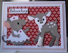 Scrapcard girls Bambi, Marianne Design Cards, Bird Cards, Get Well Cards, Punch Art, Scrapbook Cards, Pet Birds, Cardmaking, Christmas Cards
