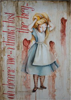 The Key from the Alice Series by Vanessa Berlein - oil on canvas