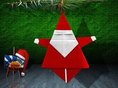 Santa Claus Origami-   Cool site for holiday & other Origami with HOW TO videos and printed directions.