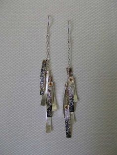 Elegant Sterling Silver and Copper Earrings
