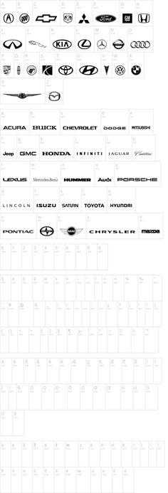 Auto Motive Font - includes MINI Logo