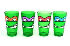 Teenage Mutant Ninja Turtle tumblers (Set of 4)