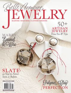 In this issue of Belle Armoire Jewelry, you'll find majestic miniatures by Sandy Martin, creative uses for salt shakers from Lynne Suprock, and Debra Scialla's gorgeous Death Valley Pendant. On the cover: Sandy Martin's stunning pottery shard earrings.
