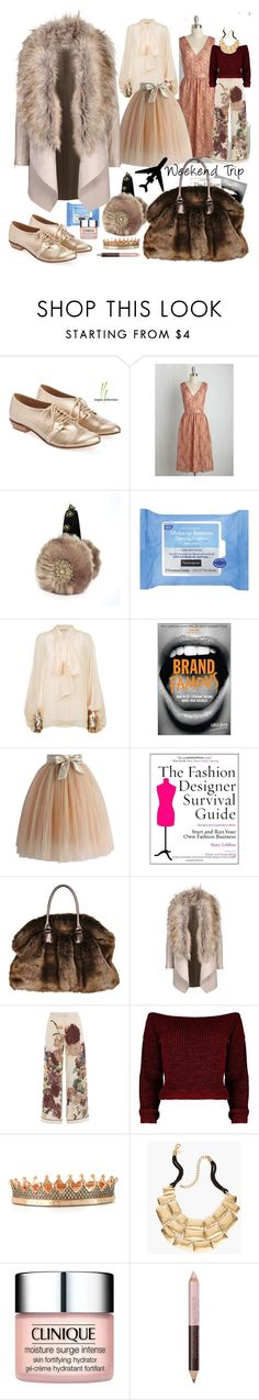 """""""Fashionista Faux Fur Fun"""" by dollycarlsson ❤ liked on Polyvore featuring Neutrogena, Chloé, Chicwish, Valentino, Azhar, Chico's, Clinique and NYX"""