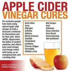 Apple cider vinegar cures...
