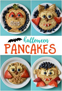 Imagine the delight your kids will have on their faces when they see a plate of Halloween Pancakes waiting for them tomorrow morning.