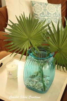 Pineles And Palm Fronds Traditional Southern Decorating Pinele Paradise Pinterest