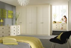 Linea Cream Bedroom Furniture & Wardrobes is a wonderful contemporary option by Sharps bedrooms http://www.sharps.co.uk/fitted-bedrooms/linea/