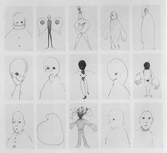 <i>Group #10</i> 1994 Graphite on paper, set of 15 drawings 30.5 x 33.5 inches