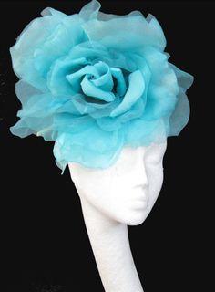 Turquoise silk fascinator