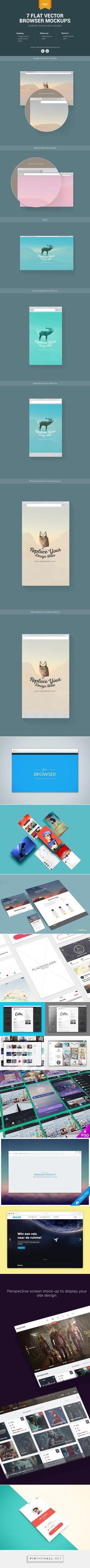 35+ Free Web Browser & App Presentation PSD Mockups - Fusionplate.com - created via https://pinthemall.net
