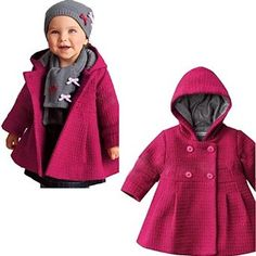 Amazon.com: EGELEXY Baby Girl's Hooded Wool Cotton Trench Coat Outwear: Clothing