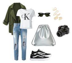 """Trip "" by sarlota-krulisova on Polyvore featuring Dolce&Gabbana, Calvin Klein Jeans, Vans, Topshop and Nikon"