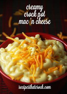 Creamy Crock Pot Mac n Cheese #crockpot  This is the BEST mac n cheese recipe!