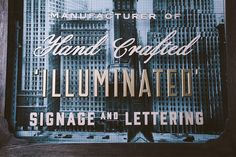 This extremely authentic handmade signage will brighten up our days…