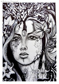 Earth Elemental Dryad Tree spirit Spirit Guide by SoulBirdArt