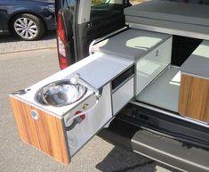 VW Caddy KR + LR kitchen box Active precast (# 13206) - reimo.com (EN)