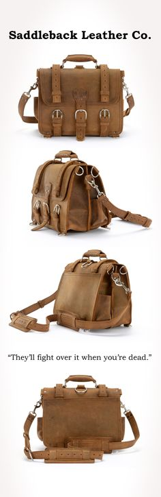 The Saddleback Leather Classic Briefcase in Tobacco   100 Year Warranty   One day...it will be mine.