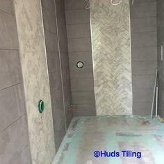 #herringbone #tileaddiction #tilepassion  #tilestyle #tilework #tileporn #tileart #tilers #tile #tiling  #trend #trending #walltiling #floortiling #lovewhatwedo by hudstilingservices