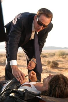 Jared Leto and Nicolas Cage (making of ''LORD OF WAR'')