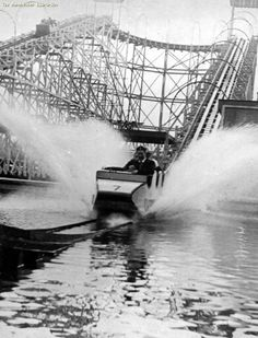 """Waterchute (I'm sure it was know as """"the big dipper""""), Belle Vue, Manchester."""