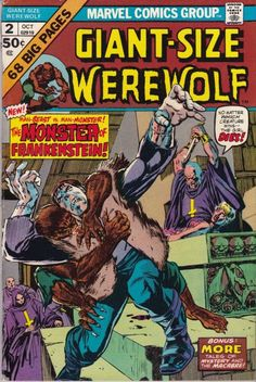 Werewolf by Night Issue # 1 (Marvel Comics) Marvel Comic Books, Comic Books Art, Comic Art, Marvel Comics, Book Art, Old Comics, Vintage Comics, Man Beast, Horror Monsters