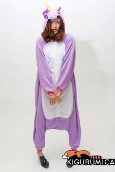 (Regular) Purple Unicorn Kigurumi Onesie Animal Adult Pyjamas