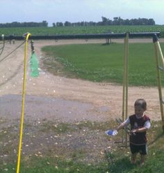 Our version of the pop bottle sprinkler...my kids loved it!