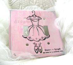 Dream Dancer Original Light Switch Plate by WheretheGrassisGreen, $9.00