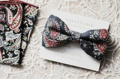 Mens Bow Tie Pre-tied Bow Tie For Men Navy Blue Bow Tie - Bohemian Bow Tie - Boho Wedding Handmade Mens Gift - Floral Bow Tie
