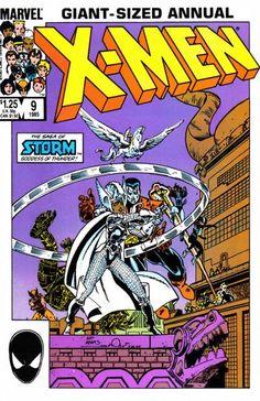 Uncanny X-Men Annual #9 cover by Art Adams