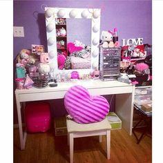 Girly glam room